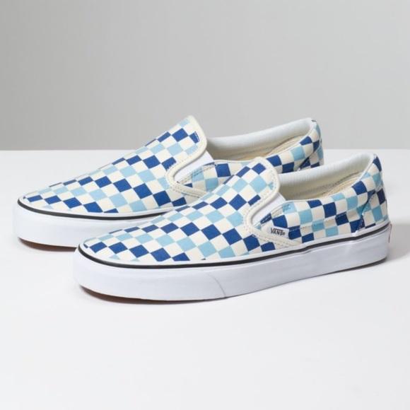 Vans Shoes | Nwt Checkerboard Slipon
